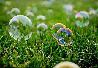 bulles représentant la préparation mental au jeûne et randonnée